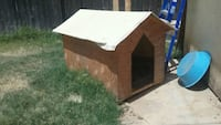 brown and white wooden dog house Madera, 93638