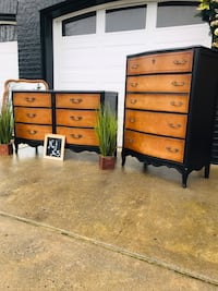 3P French Provincial Bedroom Set ( tall, long dresser & mirror)