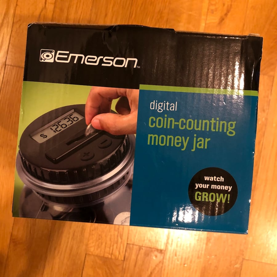 Digital coin counting money bank