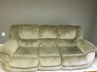 brown suede 3-seat sofa LEESBURG