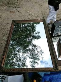 rectangular brown wooden framed mirror Lakewood Township, 08701