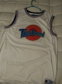 white and red Tune Squad Jordan jersey Indianapolis, 46222