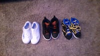 three pairs of blue and black shoes Victorville, 92395