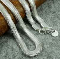 """6mm 925 Sterling Silver Plated Snake 22"""" Chain !!  Manassas, 20110"""
