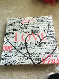 white and black love amore amor lamour print wall decor Fairfax, 22030