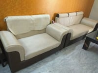White leather 7-seat sofa Ghaziabad