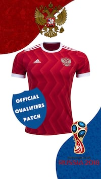 red and white Adidas jersey shirt