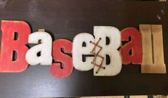Baseball Wooden Decorative Sign