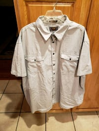 Mens Button Up, Light Grey Sz 3XL Riverside, 92504