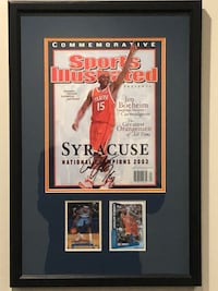 Carmelo Anthony signed SI and rookie cards framed Omaha, 68132