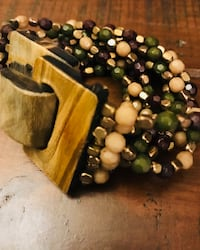 Tan, Brown, and Green Bracelet San Antonio, 78023