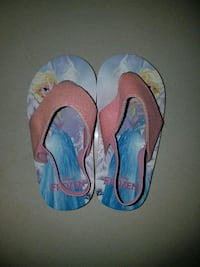 pair of Disney Frozen Elsa sling back flip-flops 3728 km