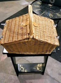 Picnic Basket with Matching Table Cloth
