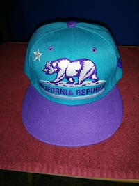 blue and purple California Republic embroidered fitted cap Burleson, 76028