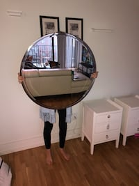 round brown wooden framed mirror Falls Church, 22041