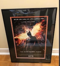 BATMAN The Dark Night Rises Movie Poster in Black Metal Frame 20 inches by 16 Inches Toronto, M2J 1Z1