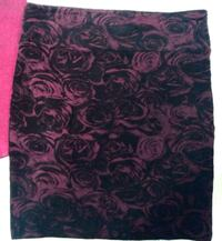 Women's Black Floral Skirt 3141 km