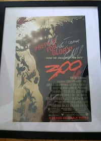 Autographed  Poster from the movie 300