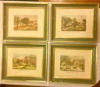 Old American Homestead Seasons   Framed Pictures. Little Rough! Madison