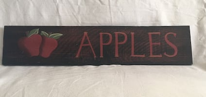 "Decorative wooden sign ""Apples"""