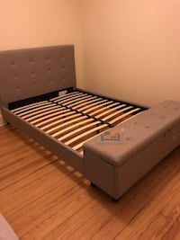 Brand new queen size platform bed frame with a bench Silver Spring, 20902