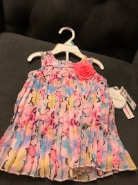 girl's pink and blue floral sleeveless dress Cranford, 07016