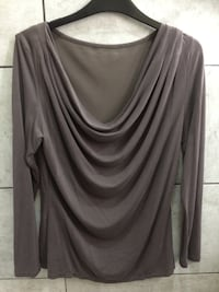 women's gray scoop neck long sleeve shirt Bromley, BR1 5NH