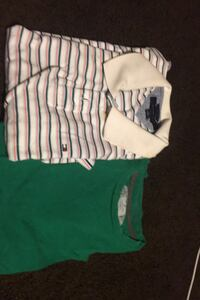 Two med size med shirt one green one stripe  both for just 4.00 North Las Vegas, 89030