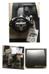 PS3,racing wheel wt pedal and games REDUCED PRICE! Ottawa, K1K