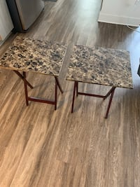 Set of TV dinner tables, like new Linthicum Heights, 21090