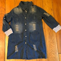 Women's XXL Denim Jacket / Tunic NWOT Franklin Square, 11010