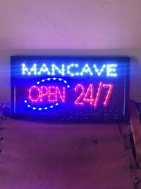 Flashing Marquee LED Sign, MAn Cave Los Angeles, 90026