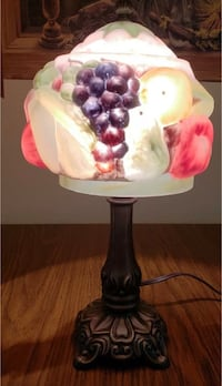 Fruit Basket Lamp ~ Hand Painted Glass Lamp ~
