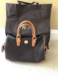 Rioni Black and brown leather tote bag Leesburg