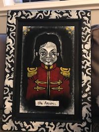 """Michael Jackson painting """"the horror"""" New Westminster, V3L"""