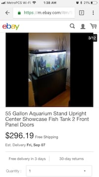 55 gallon tank with stand Fresno, 93720