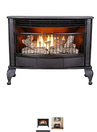 Dual fire fireplace Propane or natural gas.