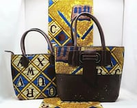 black and yellow leather tote bag Toronto, M6M 3A9