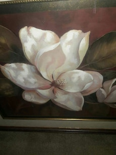 Excellent Condition Magnolia Matted Art Frame