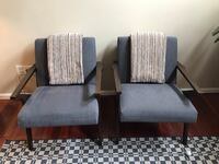 Two Mid Century Arm Chairs Reston, 20190