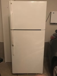White top-mount refrigerator 33 km