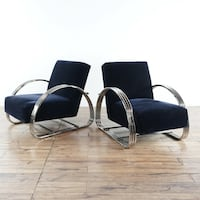 Upholstered Metal Armchairs (1019082) South San Francisco