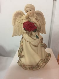 Female white ceramic angel figurine Surrey, V3V 6P2