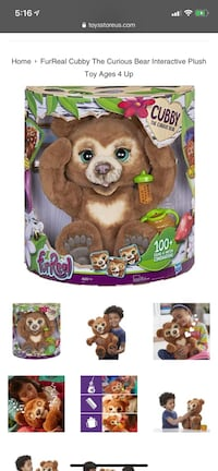 FurReal Cubby The Curious Bear Interactive Plush Toy New York, 10036