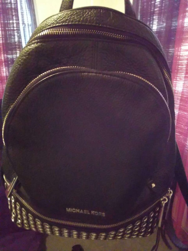 0312ff118e85 Used black Michael Kors leather backpack for sale in Dallas - letgo