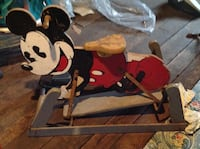 Antique Mickey Mouse child's ride on rocker Scranton
