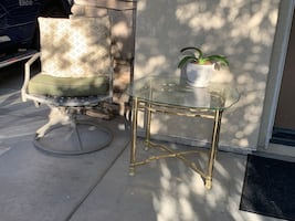 "Beveled glass table for home or Patio!28"" Long, 24w"