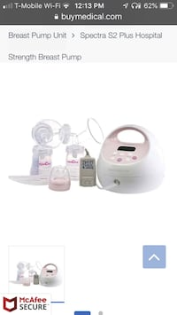 White and pink breast pump Rockville, 20853