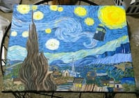 Fan art starry night tardis painting Hazelwood, 63042