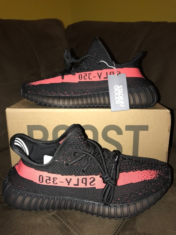 5bea728202e3b Used adidas yeezy boost 350 v2 core black red Size 10 for sale in ...